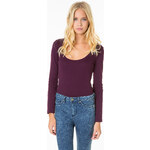 Tally Weijl Purple Basic Long Sleeves Top
