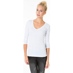 Tally Weijl White V Neck Top