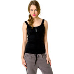 Tally Weijl Black Basic Lace Button Vest Top