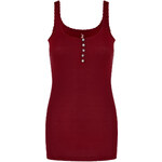 Tally Weijl Red Basic Lace Vest Top