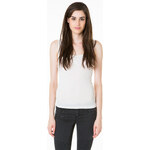 Tally Weijl Beige Basic Lace Button Vest Top