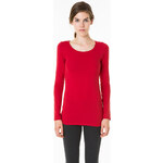 Tally Weijl Red Basic Long Sleeve Top
