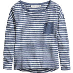H&M Top in slub jersey