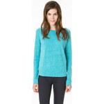 Tally Weijl Turquoise Twisted Yarn Top