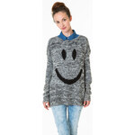 "Tally Weijl Grey ""Smiley"" Knitted Jumper"
