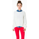 Tally Weijl Cream Knitted Jumper With Zippers
