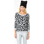 Tally Weijl Grey Leopard Jumper