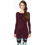 Tally Weijl Purple Knitted Jumper Dress