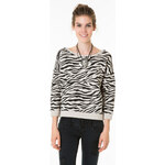 Tally Weijl Grey Zebra Print Sweater