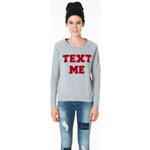 "Tally Weijl Grey ""Text Me"" Sweater"