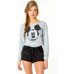 """Tally Weijl Grey """"Mickey"""" Print Sweater"""