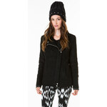 Tally Weijl Black Zip Up Biker Coat