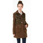 Tally Weijl Brown Coat with Faux Fur