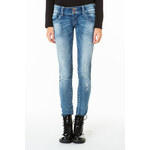 Tally Weijl Light Wash Distressed Skinny Jeans