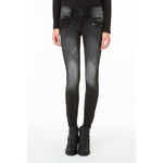 Tally Weijl Black Washed Ankle Skinny Jeans with Zip-Details