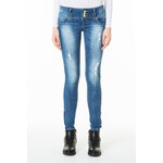 Tally Weijl Medium Wash Destroyed Skinny Jeans