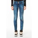 Tally Weijl Jeans mit breitem Gürtelschlaufen und Acid-Waschung