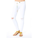 Tally Weijl White Destroyed Skinny Pants
