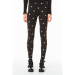 Tally Weijl Black Currency Print Leggings