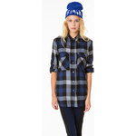Tally Weijl Black Check Silky Blouse