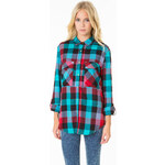 Tally Weijl Colorful Check Silky Blouse