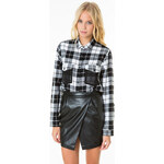 Tally Weijl Checked Shirt With Mesh Panel