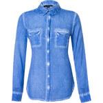 Tally Weijl Blue Acid-Wash Shirt