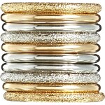 ASOS Sandblast And Smooth Stack Rings - Gold