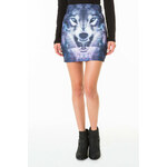 Tally Weijl Black Wolf Print Bodycon Skirt
