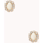 FOREVER21 Glam Faux Stone Studs