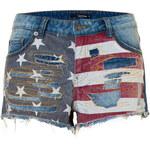 Tally Weijl American Flag Denim Shorts
