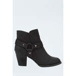 Tally Weijl Black Buckle Strap Ankle Boots