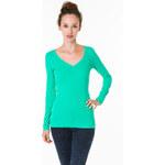 Tally Weijl Vibrant Green V Neck Top