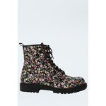Tally Weijl Black Floral Ankle Boots