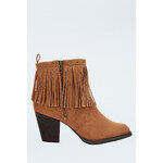 Tally Weijl Tan Fringes Ankle Boots