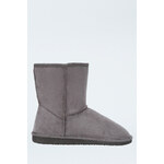 Tally Weijl Grey Faux Sheepskin Boots