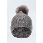 Tally Weijl Grey Faux Fur Bobble Hat