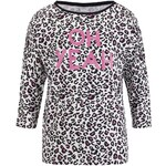 s.Oliver Leopard top with lettering print