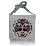 GOSHICO - Plstěna vyšívaná taška (nastavitelný popruh) FOLK KOHOUTÍ - 14-274