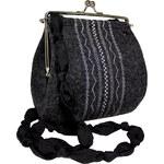 GOSHICO - Plstěná vyšívaná kabelka s kuličkovým páskem SOTE - 26-5302