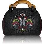 GOSHICO - Plstěná vyšívaná kufříková kabelka NEW FOLK - 39-52716