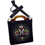 GOSHICO - Plstěná vyšívaná taška NEW FOLK (odepínací popruh) - 41-12716