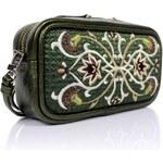 GOSHICO - Kožená vyšívaná kabelka do ruky i na rameno FANCY - 51-285356