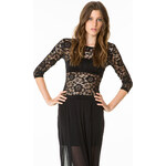 Tally Weijl Black Floral Lace Top