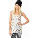 Tally Weijl White Sequin Embellished Tank Top