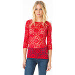 Tally Weijl Red Floral Lace Top
