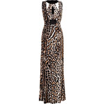 Just Cavalli Jersey Animal Print Gown