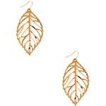 FOREVER21 Delicate Leaf Drop Earrings