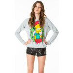 "Tally Weijl Grey ""Christmas Simpson"" Printed Sweater"