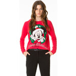 "Tally Weijl Red ""Christmas Mickey"" Printed Sweater"